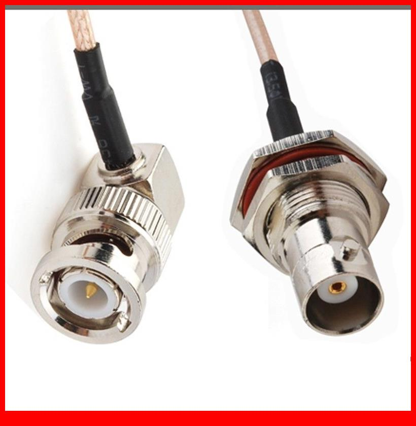 10 pcs  15CM Jumper Cable BNC Plug RA to BNC Jack bulkhead COAXIAL Cable RG316<br>