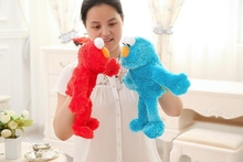 The parent-child interaction story. Active hand puppet monkey mouth Sesame Street long plush toy doll..35cm. shipping
