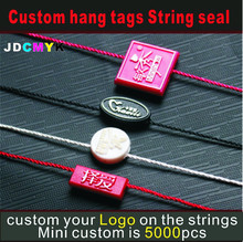 professional customized product clothes hang tags strings/rope with your logo, string seal ( DON'T BUY WITHOUT INQUIRY!! )(China)