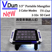 2016 The Newest Portable Digital Magnifier  Low Vision  Electronic Visual Aids Video Microscope USB SD Card  AV Out ,VD-LE1