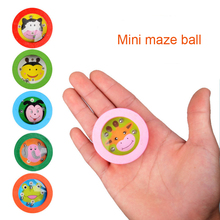 2017 1pc Children Educational Maze Magic Puzzle 3D Mini Speed Cube Labyrinth Rolling Ball Beads Game Early Learning Toys
