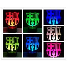New Popular Footbal Team Sports Fans Lamp Gifts 7 Colors Changing Atmosphere Gradient Visual Nightlight Illusion Lighting Gifts(China)