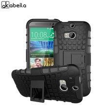 AKABEILA Military Armor Kickstand Phone Case For HTC One 2 One M8 M8s M8x Case 2 in 1 Hybrid For Htc M8 Phone Cases Skin(China)