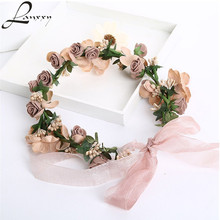 Lanxxy Hot Sale New 2016 Fashion Wedding Hair Accessories Wreath Tiaras Flower Headband Women Crown Bridal Hairbands(China)