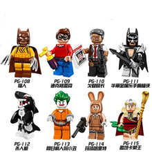 Single Sale PG8033 Super Heroes Dols Batman Movie Killer Orca Shark Clown Marge Collection Building Blocks Baby Toys(China)