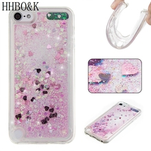 Fashion Dynamic Liquid Glitter Cases for iPod Touch 5 6 Quicksand Soft TPU Cases for iPod Touch 6 5 Back Cover Love Heart Cases