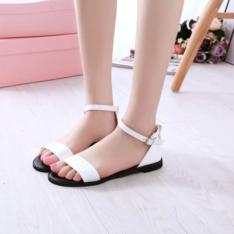 Rome Style Fashion Solid Womens Sandals Casual Comfortable Elegent Flat Sandals Summer Good Match Beach Shoes Woman Footwear<br><br>Aliexpress