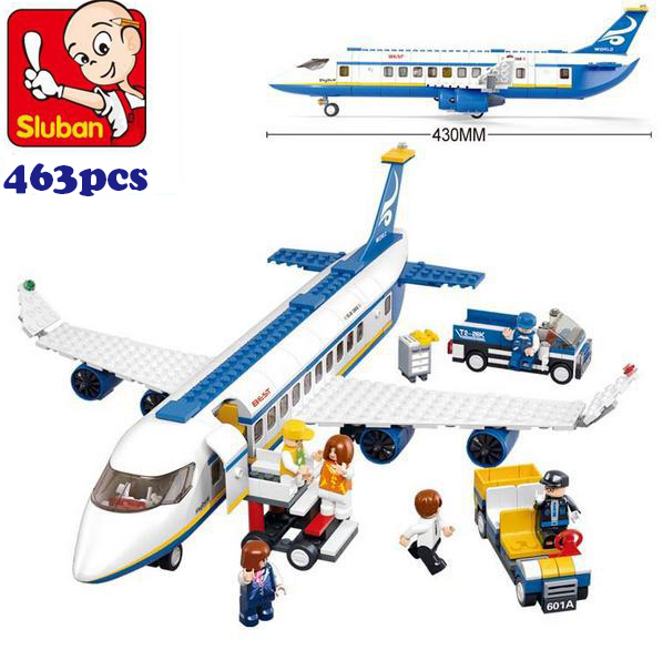 Simplebox Sluban M38-B0366 Air bus Plane aviation Building Blocks Transport enlighten aircraft vehicle Toys Bricks set for kid<br><br>Aliexpress
