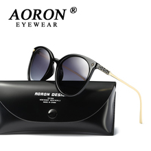 2017 NEW AORON Brand Women Polarized Sunglasses Big Frame Leisure Glasses Unique Design Style HD Goggles Girls Eyewear(China)