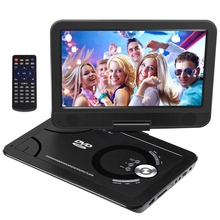 Portable DVD Player 10.1 Inch USB Portable TV Portatil DVD Player TV Car Charger with Rechargeable Battery CD DVD Player APBAT