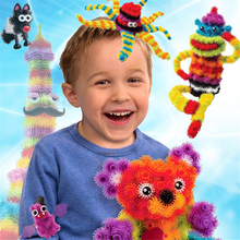 400-600Pcs +36Pcs Accessories To Build Mega Pack Animals Accessory DIY Assembling Block Toys Set Magic Puffer Ball For Kid