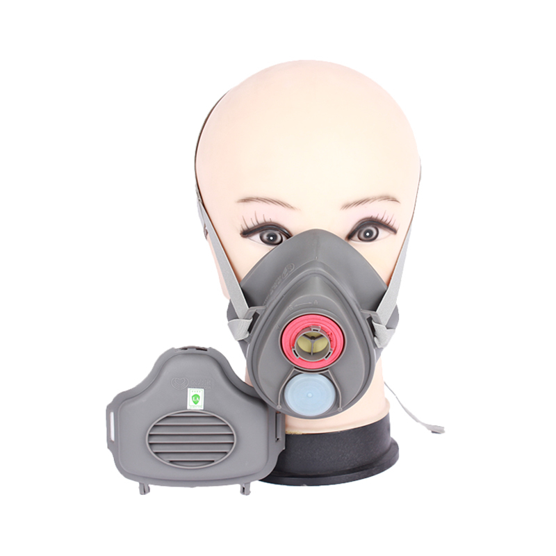 2015 new silicone protective masks painting protective welding work N95 dust masks standard cotton filter respirator fill valve<br><br>Aliexpress