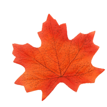 Brand New  Approximately 100pcs Assorted Rich Fall Colored Silk Maple Leaves Artificial Leaves