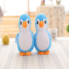 Cute little blue penguin doll foam particles stuffed toy animals, dolls children birthday gift