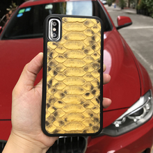 Cell phone Accessories for iphone 8 plus case Luxury yellow python skin most popular cell phone cases for iphone X SE 6 6S plus(China)