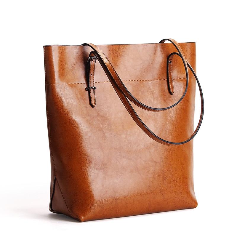 Upgrade Classical women shopper bag genuine leather high quality female shoulder bag simple elegant messenger bag big tote<br>