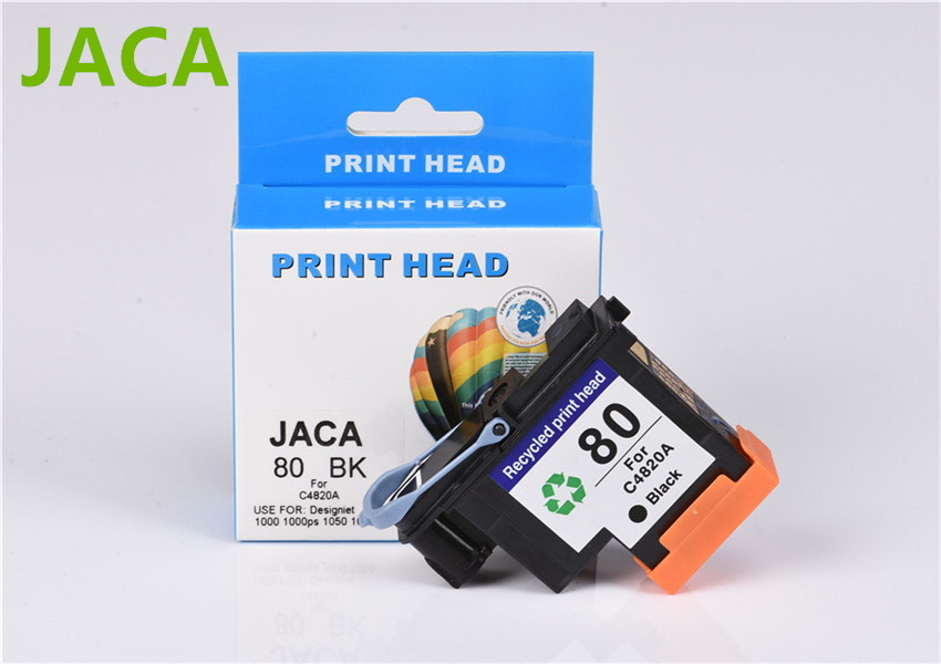 For HP80 Printhead for HP80 Designjet 1000 1000plus 1050 1055 printer Remanufactured C4820A print head just 1PC black color<br>