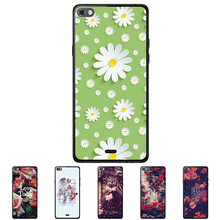 "For Micromax Canvas Sliver 5 Q450 4.8 "" Solf TPU Silicone Flower Case Mobile Phone Cover Bag Cellphone Housing Shell Skin Mask(China)"