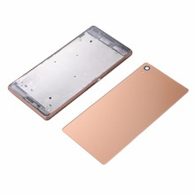 Buy New Metal Middle Frame Housing Cover Case+Glass Battery Back Cover 3M Sticker Glue Sony Z3 L55 L55w D6603 D6653 Single SIM for $9.99 in AliExpress store