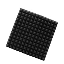 45x45x3cm Black Soundproofing Foam Acoustic Foam Sound Treatment Absorption Wedge Tiles Pack Studio/Music Promotion Price(China)