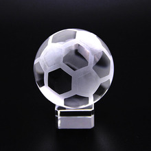 5cm Crystal Ball Glass Sports Design Sphere Baseball Football Volleyball Tennis Ball Basketball Home Decor Ornament Unique Gift(China)