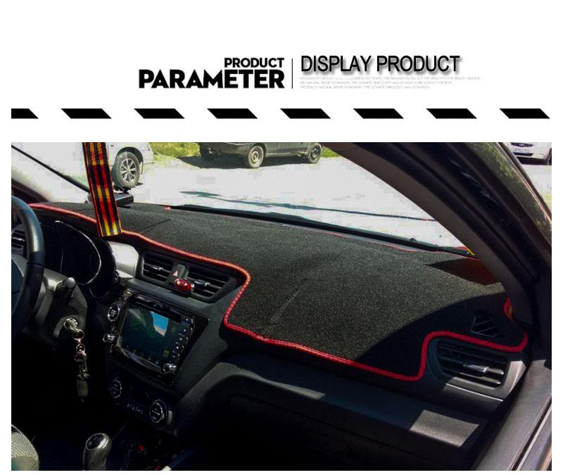 For Russia KIA Rio K2 2012 2013 2014 2015 2016 2017 LHD Car Dashboard Mat Covers Mats Pad Auto Shade Cushion Carpet Protector (7)