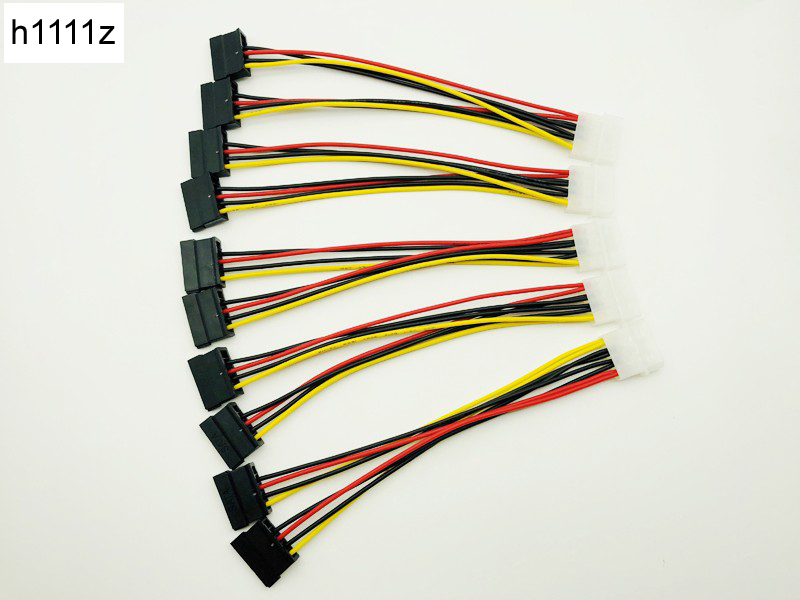 "8/"" 20cm Replacement Molex to SATA Power Cable Splitter Adapter Extension"