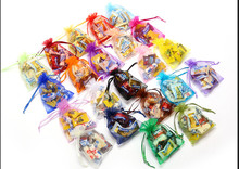 7x9CM Christmas&Wedding Organza Bags 50Pcs/Lot Mix Random Colors Jewelry Packaging Drawable Organza /Gift Pouchs
