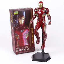 Crazy Toys Iron Man MARK XLVI MK 46 1/6 Scale PVC Painted Figure Collectible Model Toy 32.5cm