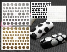 4 COLORS ROUND TYPE 3D 2015 newest nail art stickers decal stamping seal nail tools patch