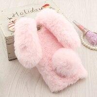 P10 Plus Fundas 3D Cute Rabbit Warm Fur Cover For Huawei P10 Lite Carcasa Soft Silicone Case Huawei P10 Phone Bag Cases Celular