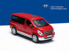 1/ 32 scale Hyundai starex diecast model cars  mini van kids toys with openable door with Pull Back For Baby Gift