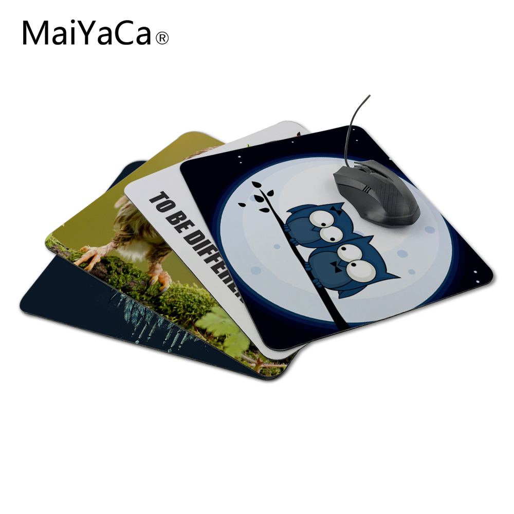 MaiYaCa Funny Owl Animal Mousepad Decorate Your Desk at Home And Office Desk Gming Mouse Pad Size (22x18x0.2cm)