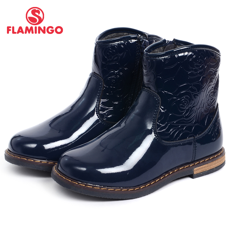 FLAMINGO new collection brand high quality autumn/ winter black childrens shoes for girls anti-slip fashion boots W6XY181 /182<br><br>Aliexpress