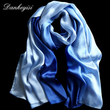 DANKEYISI Fashion Silk Shawls and Scarves Gradient Color Design hijab High Quality Women Scarf Luxury Brand 180*90cm Large size