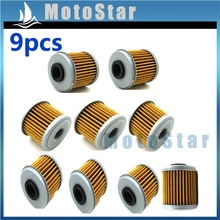 9x Oil Filter For Honda CRF450R 2002 2003 2004 2005 2006 2007 2008 2009 2010 2011 2012 2013(China)