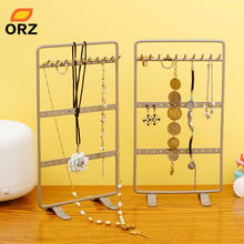 ORZ 2PCS/Set Jewelry Accessories Earring Ring Necklace Holder Metal Ear Stud Display Rack Jewelry Storage Stand Organizer Holder(China)