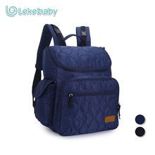 Lekebaby Fashion Mummy Maternity Diaper Bag Backpack Quilting Patterns High-Capacity Nappy Changing Baby Bag for Stroller(China)