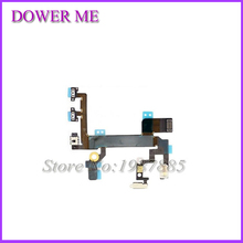 10pcs/lot New OEM Power Sensor Switch On/ OFF Flex Cable Replacement For iPhone 5 5S High Quality Free Shipping(China)