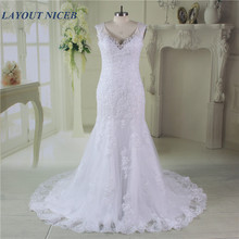 Buy Mermaid Vestido De Noiva Bridal Gown Vintage Sleeveless Lace Wedding Dresses 2017 V neck Wedding Dress Bride Robe De Mariage for $189.00 in AliExpress store