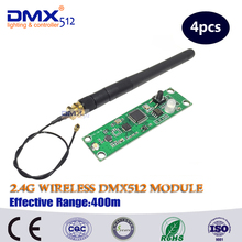 Free Shipping 4pcs 2.4G led stage light led move head wireless dmx pcb module frequency control(China)