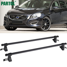 "Partol Universal 48"" Aluminum Car Roof Rack Cross Bars Crossbars 35kg/75LBS Cargo Basket Carrier Bike Rack Top Fit Normal Roof(China)"