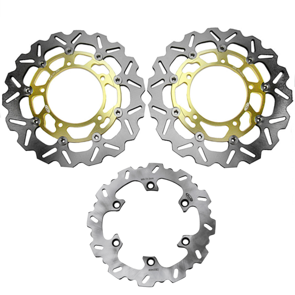 Motorcycle Front Rear Brake Disc Disk Rotors Set For SUZUKI B-KING 1300 2008-2010 & GSX-R HAYABUSA 1300 2008-2015 Spare Parts