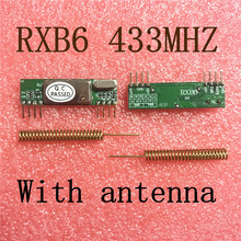 2pcs X RXB6 433Mhz Superheterodyne Wireless Receiver Module With antenna Free Shipping(China)