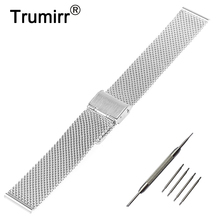 18mm 20mm 22mm 24mm Milanese Watch Band for Breitling Stainless Steel Strap Metal Wrist Belt Bracelet Black Rose Gold Silver(China)