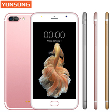 A7 Plus Smartphone 5.5 inch Capacitive Screen MTK6580 Quad core telephone Android Mobile Phone GSM WCDMA 3G 13.0MP Cell phones(China)