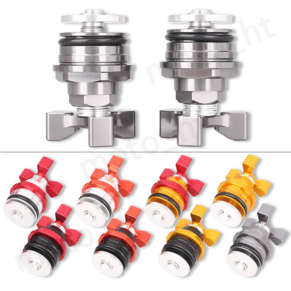 37mm Universal Motorcycle Aluminum Titiuam CNC Preload Fork Cap bolts Adjusters For Yamaha YZF R3 R25 All Years<br><br>Aliexpress