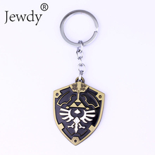 New 3D Game The Legend Of Zelda Ocarina Of Time Enamel Metal Shield logo Keychain Fashion Jewelry Key rings Car Gift(China)