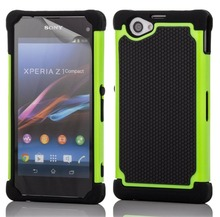 Z1 Compact Case Rubber Cushion Armor Hybrid Drop Protection Cover Shock Proof Case For Sony Xperia Z1 Compact D5503 Case Capa