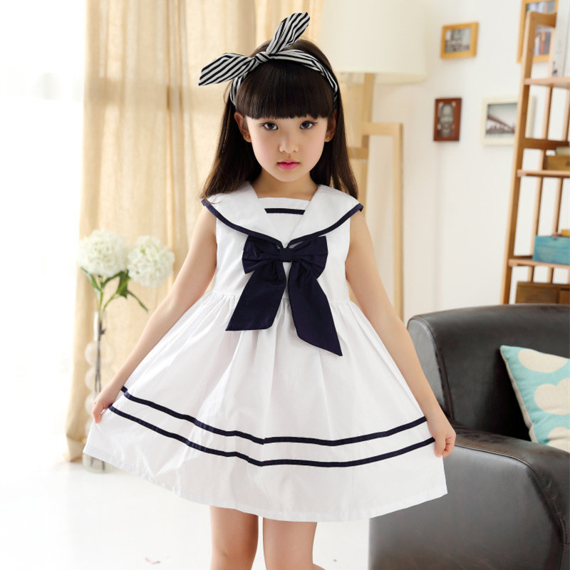 Princess Kids Dress for Girls 2017 Summer Holiday Casual Bow Sleeveless Little Girls Dresses 6 8 10 Year Children Clothing<br><br>Aliexpress